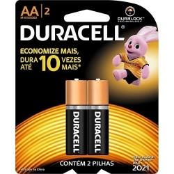 Pilha Duracell AA Cartela...